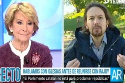 "Esperanza Aguirre se chotea de Pablo Iglesias: ""Me alegro de verte tan moderado"""