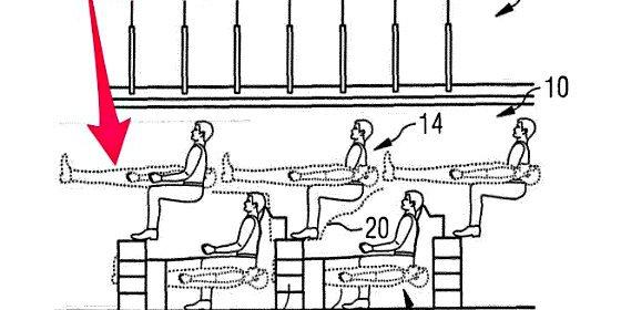 ¿El avión del futuro?: Airbus propone que los pasajeros viajen unos sobre otros, como gallinas