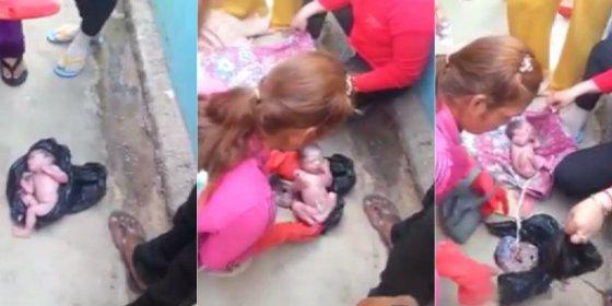 El milagroso rescate del bebé que dejaron en una bolsa de basura