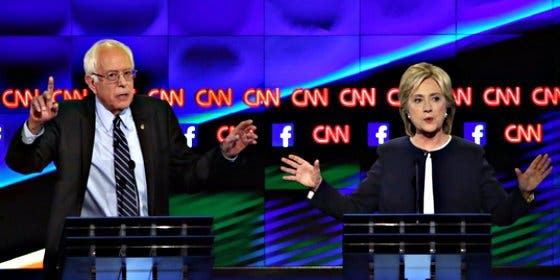 Hillary Clinton logra dominar la escena en el primer debate entre aspirantes demócratas