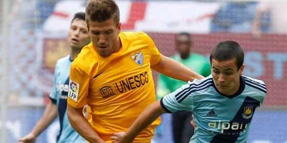 Podría debutar con el Málaga en esta temporada ante el Valencia