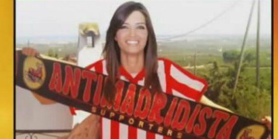 Sara Carbonero más sexy que nunca y vestida con los colores del Atlético de Madrid