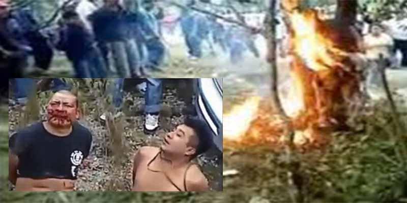 México: La turba se toma venganza y quema vivos a los aterrados violadores