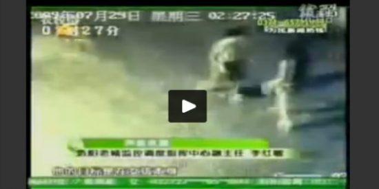 [Vídeo] El 'niño lapa' de 9 años que intenta violar en la calle a una señorita con bolso
