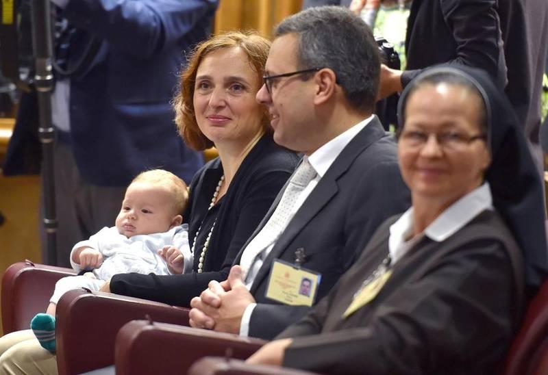 David, el bebé de 4 meses, protagonista del Sínodo