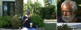 El desgraciado lleva medio año en el patio de su casa tras una bronca con la mujer