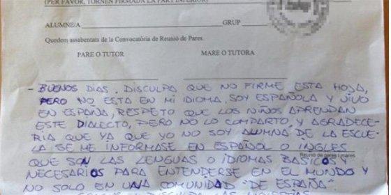 Una madre manda a por naranjas a un profesor que le escribió en valenciano