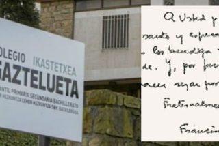 El Papa ordena investigar un caso de pederastia en un colegio del Opus en Vizcaya