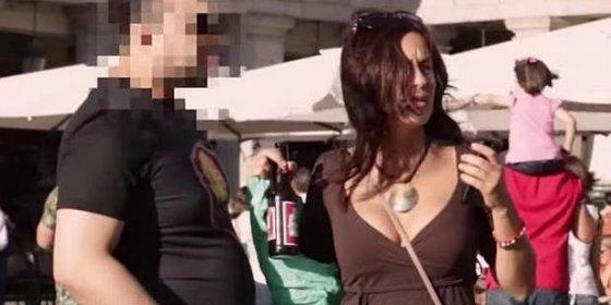 ¿Cómo reaccionan los hombres al ver a una chica sola y borracha en Madrid?