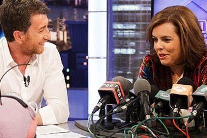 """Sáenz de Santamaría marca un máximo en el 'Hormiguero': """"En el PP hay muchos Icetas. Rajoy es muy 'bailongo'"""""""
