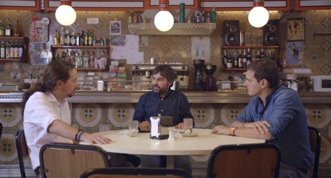 """Así responde Albert Rivera a Pablo Iglesias cuando el de Podemos enumera los apoyos que recibe Ciudadanos: """"Y a vosotros os apoya Maduro"""""""