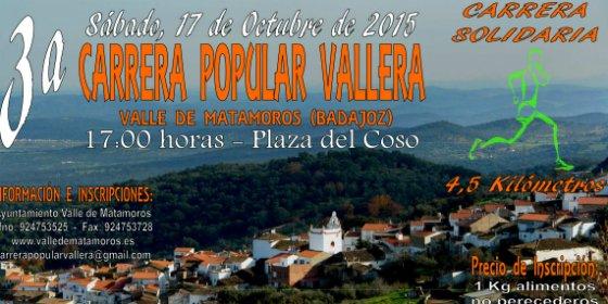 III Carrera Solidaria y Popular Vallera