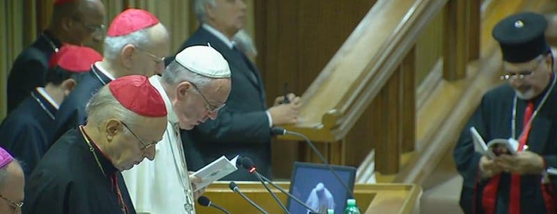 """Papa: """"El Sínodo no es un Parlamento ni un Senado"""""""