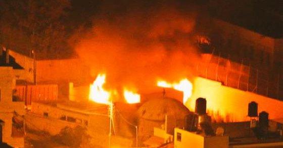 Prenden fuego a la tumba de José en Nablús