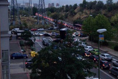 Otra jornada de caos circulatorio en Madrid: la M30 vuelve a estar completamente atascada