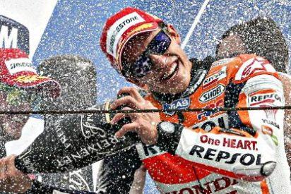 Márquez vuelve a ganar, Lorenzo recorta a Rossi en la pelea por el campeonato mundial