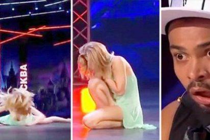 La talentosa rusa que se rompe la nariz por abrirse demasiado de piernas