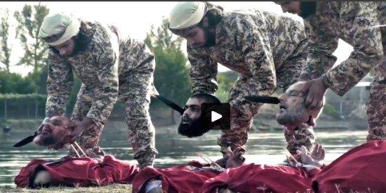 [Vídeo sin censura] La venganza de los jinetes del EI y sus jaulas del horror