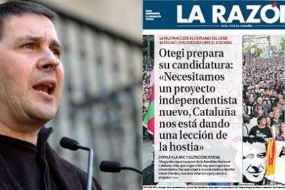 """Otegui, el nuevo socio de Podemos: """"Necesitamos un proyecto independentista totalmente renovado de cara a nuestro pueblo. Cataluña nos está dando una lección de la hostia"""""""