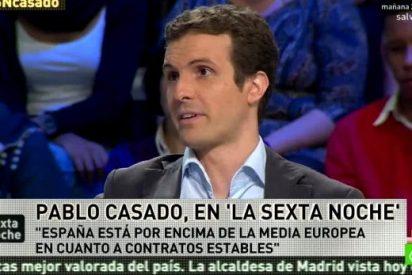 """Pablo Casado: """"Es falso que el empleo sea precario en España, es un mantra de la izquierda"""""""