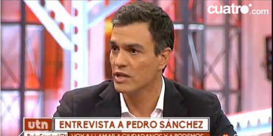 """Pedro Sánchez babea con Albert Rivera: """"Ciudadanos es una derecha moderna"""""""
