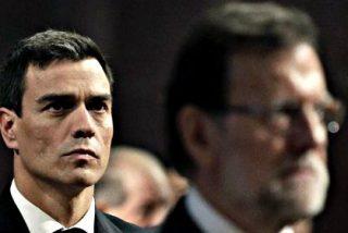 Mariano Rajoy y Pedro Sánchez pactan una postura unitaria PP-PSOE frente al desafío de los independentistas en Cataluña