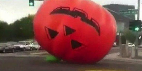 La calabaza gigante de Halloween que ha sembrado el terror
