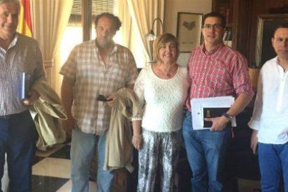 El Alcalde de Valencia de Alcántara se reúne con la Presidenta de la Diputación de Cáceres