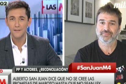 Javier Ruiz, de compadreo con Alberto San Juan en contra del PP: ahora por acercarse a los actores