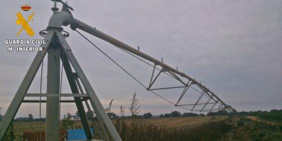 Detenido por el robo de cable de cobre del sistema de riego de una explotación agrícola