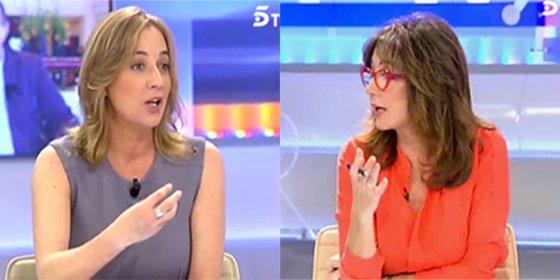 Ana Rosa descarga en Tania el enfado con Podemos en Cataluña por apoyar a Forcadell