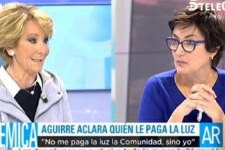 """Aguirre se harta del interrogatorio en Telecinco: """"Aquí soy una tertuliana más, no entrevistada"""""""