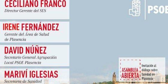 PSOE Plasencia celebrará dos Asambleas Abiertas