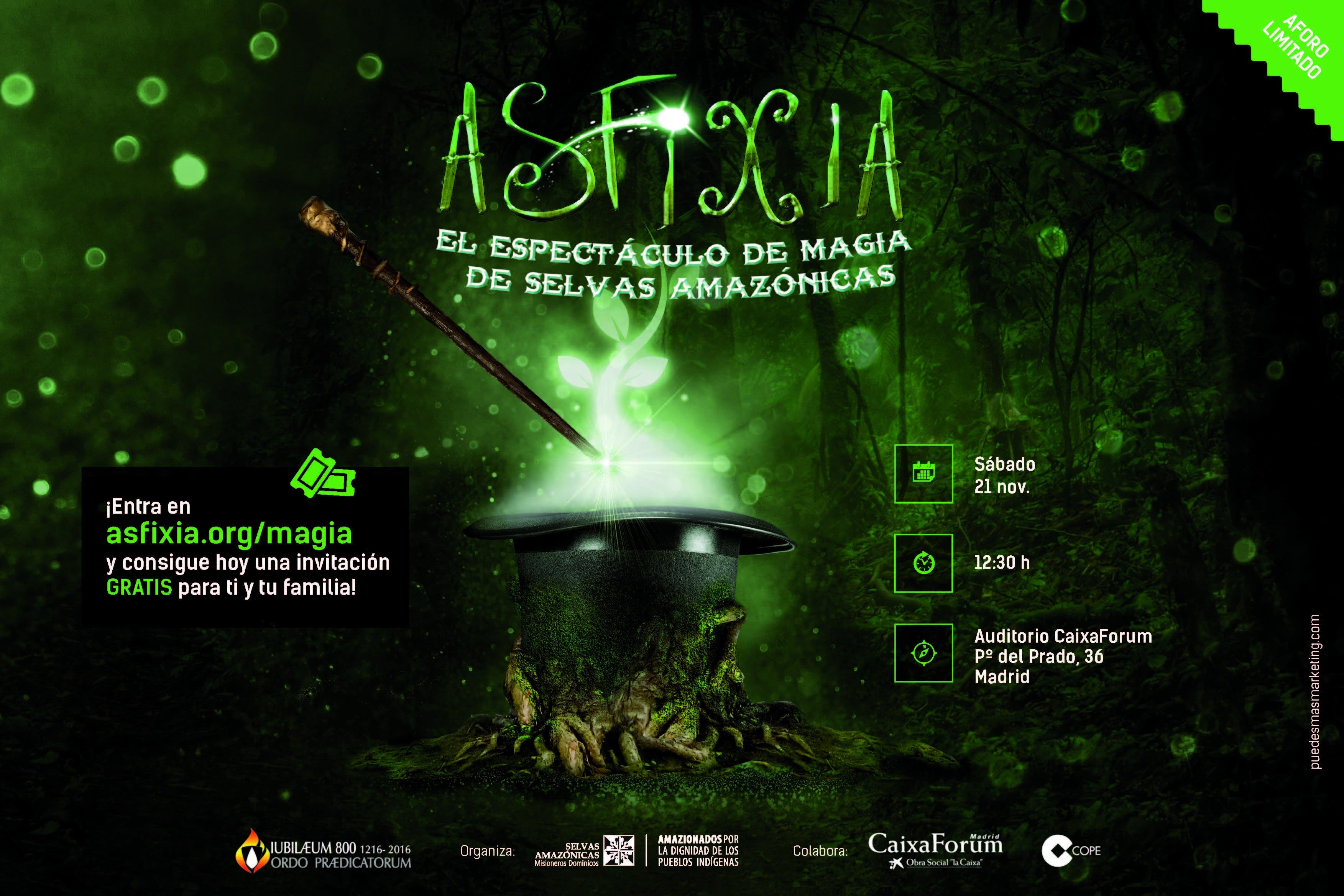 Asfixia, el Espectáculo de Magia de Selvas Amazónicas