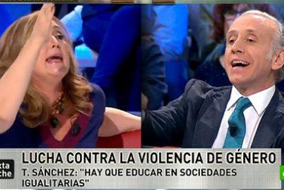 """Elisa Beni se pone como el bicho del pantano con Eduardo Inda: """"¡Tú eres un machista!"""""""