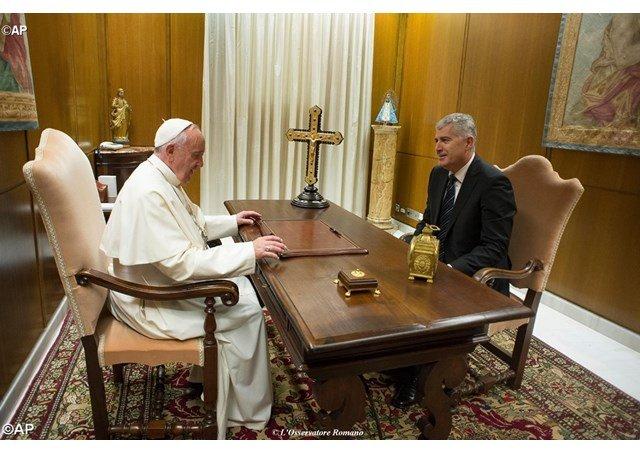 El Papa recibe al presidente de Bosnia