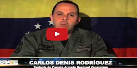 """El bravo teniente se rebela contra Maduro: """"Nuestras armas harán respetar la voluntad del pueblo"""""""