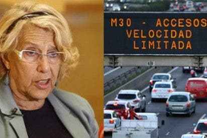 Los pardillos de Carmena montan el caos de tráfico en Madrid