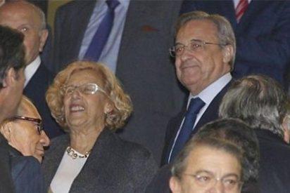 Para no interesarle el fútbol, Carmena se apuntó al Palco del Bernabéu el día del partido más interesante