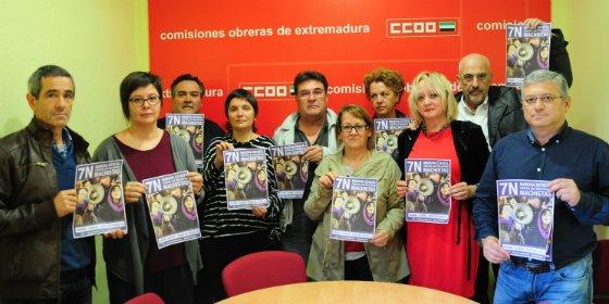 CCOO de Extremadura participa activamente en la manifestación del 7N en Madrid