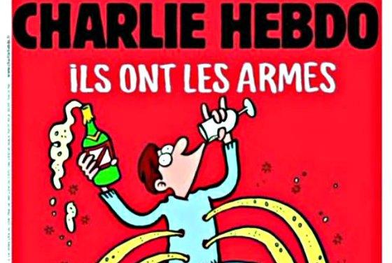 """La nueva portada de Charlie Hebdo: """"Ellos tienen las armas. ¡A la mierda!, nosotros el champán"""""""