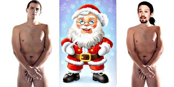 Albert Rivera no saldrá desnudo en la campaña del 20-D, pero se vestirá de 'Papa Noel' naranja