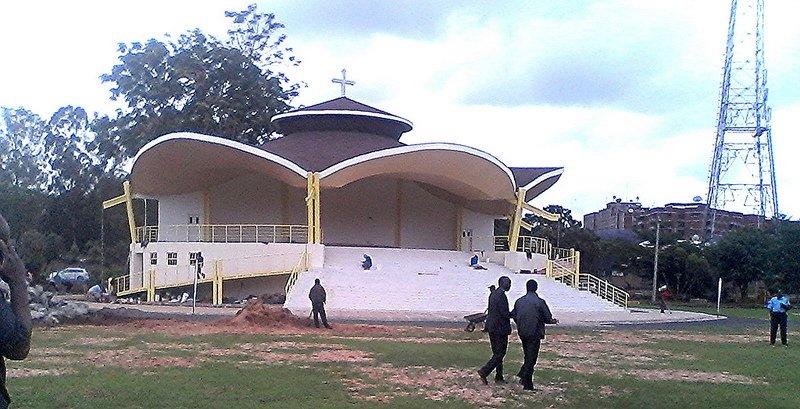 El altar del Papa en Kenia