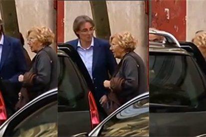 Manuela Carmena atropella su promesa electoral de no subirse al coche oficial