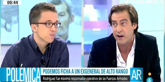 """Luis Arroyo saca los colores a Errejón: """"Nombrar a un militar como ministro de Defensa es bolivariano"""""""
