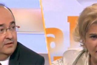 "Pilar Rahola vomita bilis independentista sobre Mikel Iceta, que termina estallando: ""¡Eres una gran mentirosa!"""