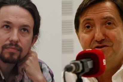 """Jiménez Losantos retrata a Pablo Iglesias: """"Me asquea que finja preocuparse por nuestra libertad un tío que cobró de Hispan TV"""""""