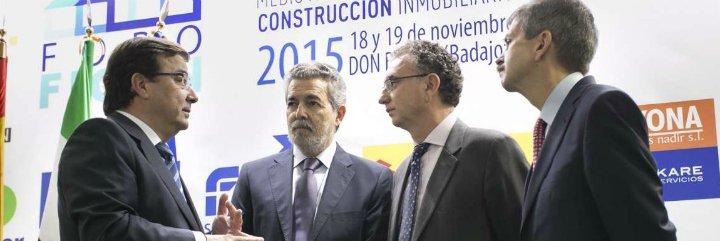 Inauguración del IV Foro Feria Ibérica de la Construcción en Don Benito
