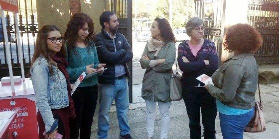 Juventudes Socialistas se reunen para realizar un acto en la universidad de Plasencia