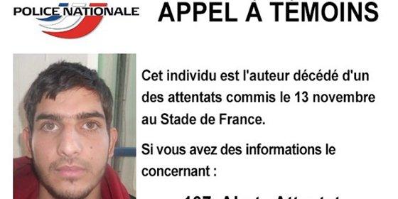 La Policía francesa difunde la foto del kamikaze con pasaporte de un soldado de Assad